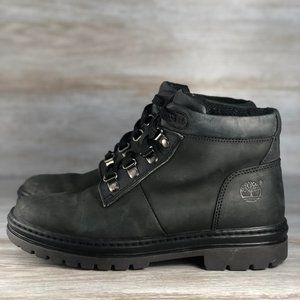Timberland 2422 Black Leather Laced Boots